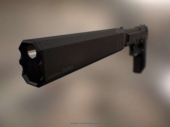 Pistol Silencer (basierend auf Silencer Co. OSPREY)