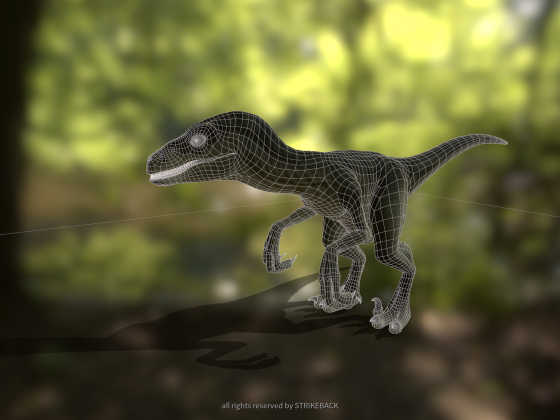 Raptor ala Striky Wireframe