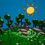 Cartoon Forest Environment