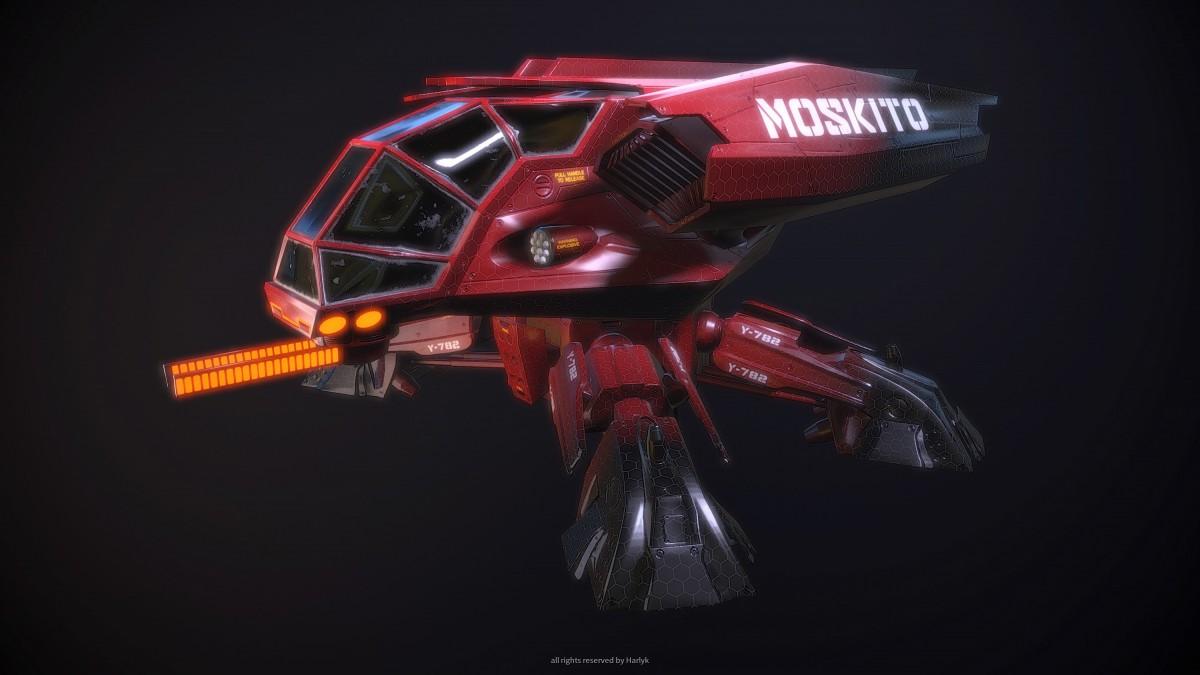 Moskito Lowpoly Version
