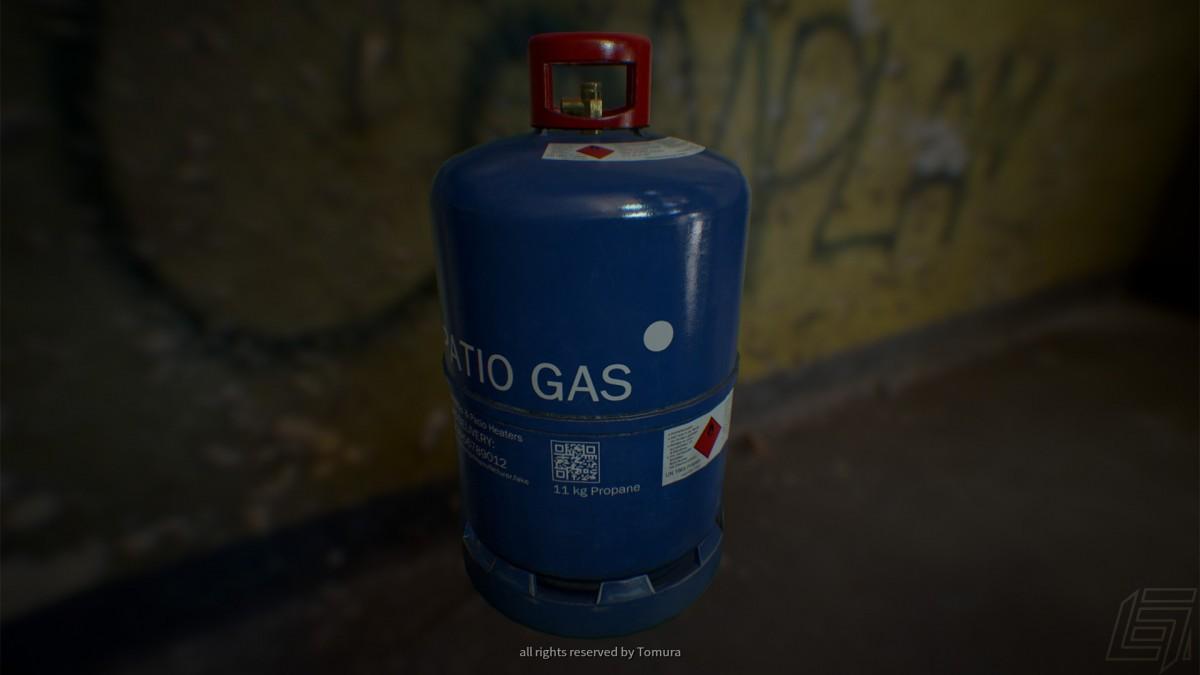 Gasflasche (rendered in UE4)