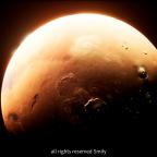 Mars Landing Scene