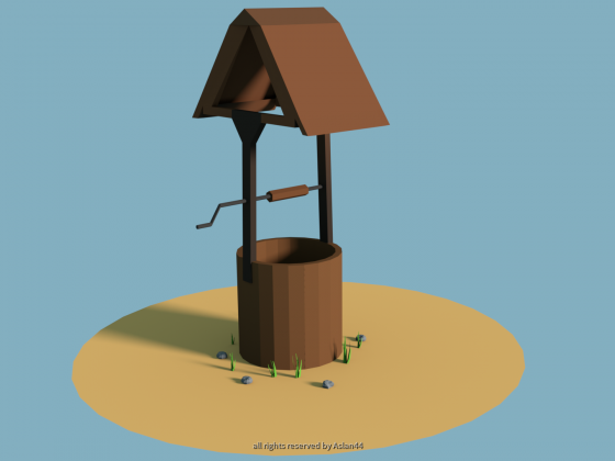 Low Poly Water Well