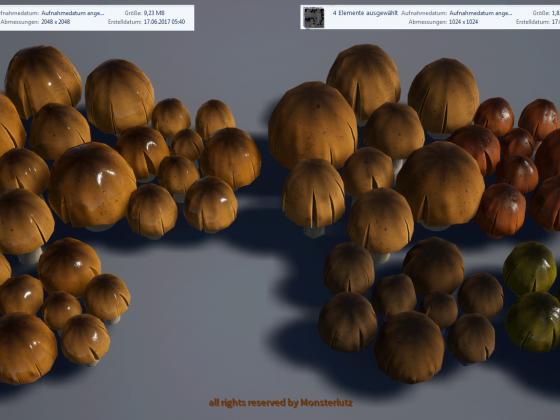 Pilze für Foliage optimierte Version