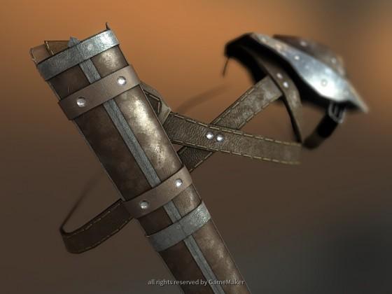 Ledergeschirr mit Schwertscheide - Hinten