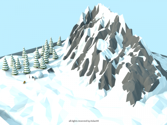 Low Poly Winter Landscape