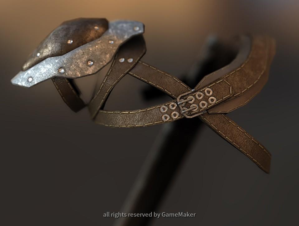 Ledergeschirr mit Schwertscheide - Vorne