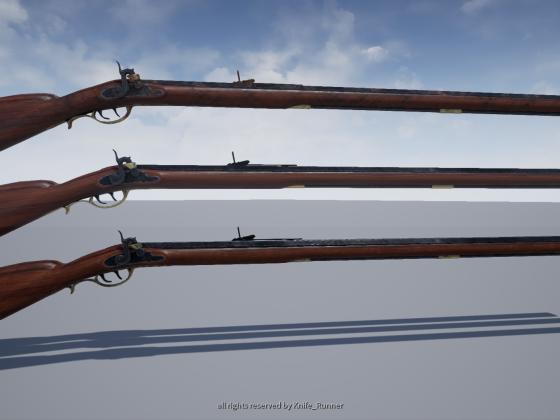 Pennsylvania Rifle - ein Präzisionsgewehr aus dem 18 Jhdt. [4k + PBR]