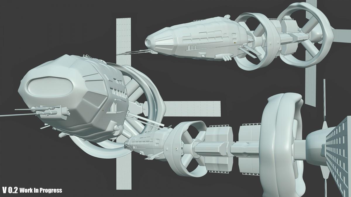 Work in Progress, SciFi Ship