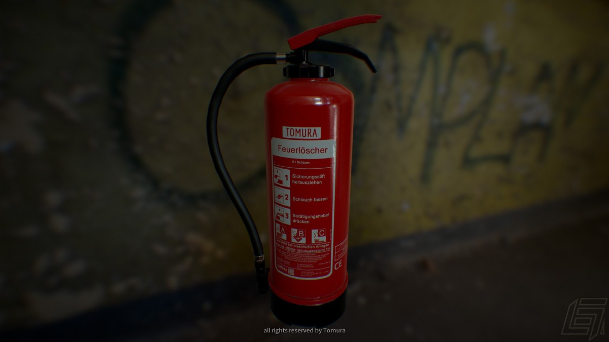 Feuerlöscher (rendered in UE4)