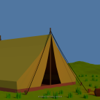Low Poly Campfire/Lagerfeuer